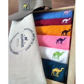 Kit 06 Camisetas Basicas Premium + Estojo Cofre E Bone