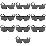 Kit 10 Óculos De Proteção Cinza Visca Safety Estande Airsoft