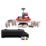 Prensa Termica 8x1 + Impressora + Mercadorias Para Iniciar