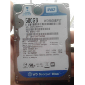 Disco Duro De 500g Western Digital Laptop