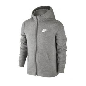 43a57f755e5df Jaqueta Infantil Nike Nsw Hoodie Fz Cinza Original