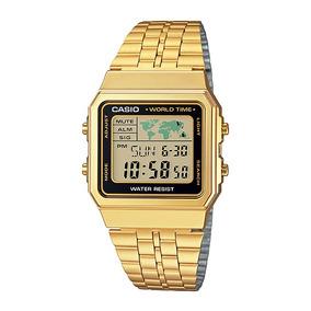 28c6a93667f Relogio Dourado Masculino Para Crianca De 12 Anos Casio - Relógios ...