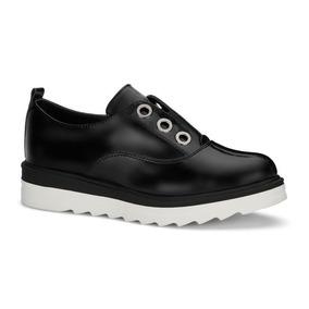 Zapato Oxford Tenis Negro Charol Plataforma Andrea 2591209 225986793ae0e