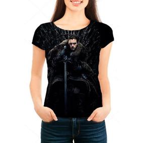Camiseta Babylook Game Of Thrones 8ª Temporada Jon Snow