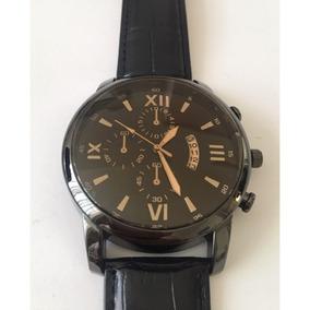Reloj Negro Para Caballero Con Calendario