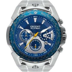 Relógio Orient Masculino Cronógrafo Prata Mbttc006d1sx