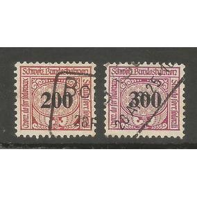 2 Selos Ferroviários Da Suiça Alemanha.