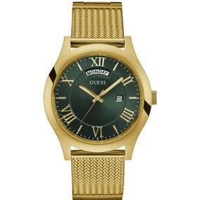 Relógio Guess Masculino Dourado Visor Verde 92633mpgdda2