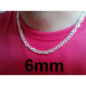 Corrente Cordão Colar Estilo A Prata 925 / 6mm