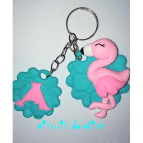 Chaveiro De Biscuit Flamingo 45 Unidades