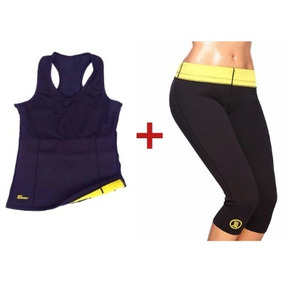 Conjunto Térmico Sauna Hot Shaper Camiseta Regata + Legging
