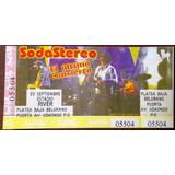 Soda Stereo El Ultimo Concierto 1997 Entrada De Coleccion