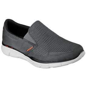 Skechers Doble Play Gris Slip On Casual Memory Foam