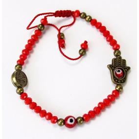 Pulsera Roja Triple Protección San Benito/fátima/ojo Turco