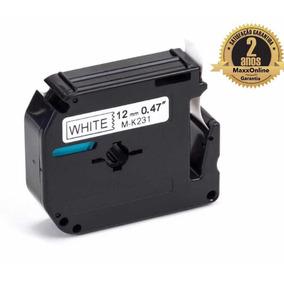 Fita Rotulador Brother Branca 12mm Mk 231 Mk231 Compativel