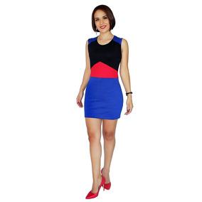 f6f4387c2 Vestidos Juveniles Casuales Bonitos Cortos - Vestidos de Mujer Azul ...