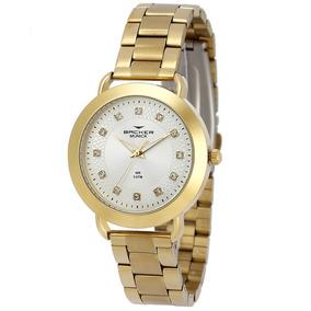 3e5d11075d0 Relogio Feminino Dourado Backer - Relógios De Pulso no Mercado Livre ...