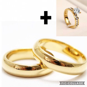 Par Alianças Moeda Antiga 6mm Casamento Noivado + Anel