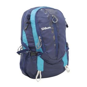 Mochila Masculina Esportiva Preto/azul Wilson - Wtix13352b