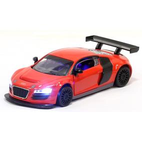 Miniatura Audi R8 Lms Vermelha Com Luz E Som