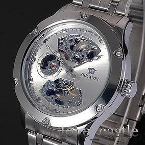 c6e2d65da7eee Relógio Pulso Corda Automática Pulseira Metal Prova Dagua - Relógios ...