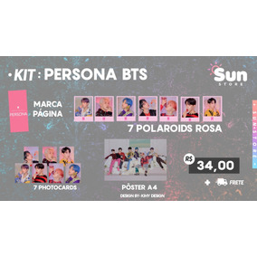 Kit Persona Bts Photocard Polaroid Pôster K-pop Fanmade