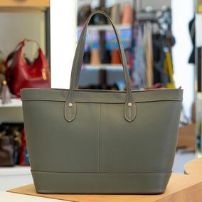 Bolsa Shopping Bag De Couro Martha Verde