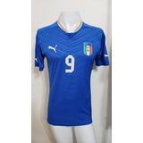 Camisa Itália Home 12-13 Balotelli 9 Versão Jogador Imp 7aded12497f59