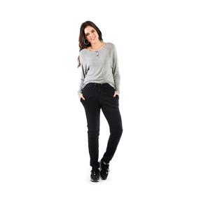 Blusa Casual Feminina Gola Canoa Manga Longa Walk Trendy c1e783ef0da