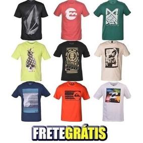 6e3b10c2e8 Lote 10 Camisetas Marcas Famosas Para Revenda Frete Grátis!