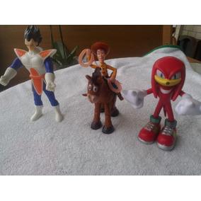 Combo Bonecos - Vegeta - Woody - Bala No Alvo - Knuckles