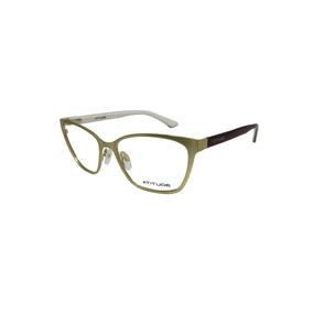 Armação Óculos De Grau Atitude Dourado E Vinho Feminino 27223a6d57