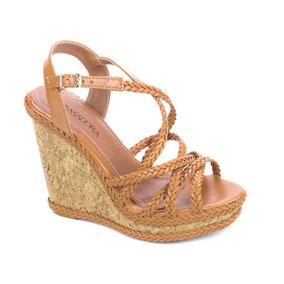 547049da3e Sandalia Anabela - Sapatos Laranja escuro no Mercado Livre Brasil