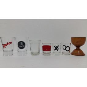 Copinho Copo Vidro Kit Com 07 Un Antigo Coleção Decoração