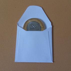 Envelope De Papel (branco) Para Moedas - 100 Unidades