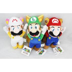 3 Pc Super Mario Bros Volar Luigi Mario Peluche Felpa M-0820