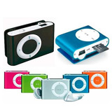 Reproductor Mp3 Clip Tipo Shuffle + Audifonos + Cable, 8gb