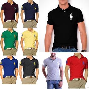 Kit C/ 06 Camisas Polos Masculina Grandes Marcas Atacado