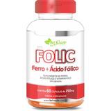 Ferro + Ácido Fólico + Vitamina B12 60 Cápsulas 250 Mg