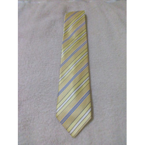 Corbata Amarilla De Seda Norton And Wilson