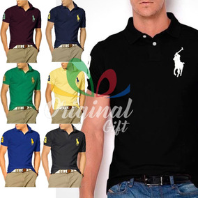 29be33c1c0 Kit 10 Camisas Polo - Pólos Manga Curta Masculinas no Mercado Livre ...