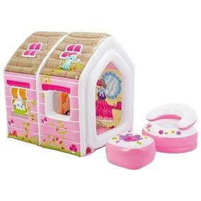 Casa De Princesas Inflables Con Sillón Y Mesa Intex 48635