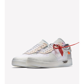 sneakers for cheap 75f30 abfac Zapatillas Nike Air Force 1 Low Off White Blanco Raro 2017