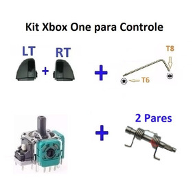 Xbox One Rt Lt + Chave T8/t6 + 1 Analógico 3d + Pino + Mola