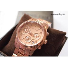Relógio Michael Kors Mk5128 Rose Gold Tamanho Medio - Relógios De ... d00279eab9
