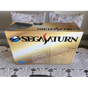 Sega Saturn Hst-0001 Cinza Japonês Como Novo Perfeito