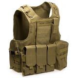 Chaleco Tactico Militar Replica Airsoft Pouch Coyote Fsbe2