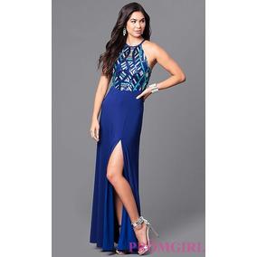 17b23b2ca Vestido Dos Piezas Egreso - Vestidos Largos de Mujer Azul en Mercado ...