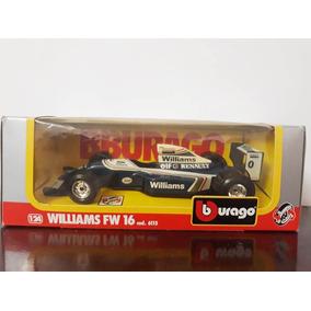 Miniatura Williams Fw 16 1/24 Bburago Código 6115