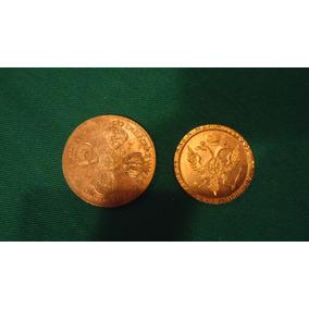Duas Moedas Foleadas A Ouro